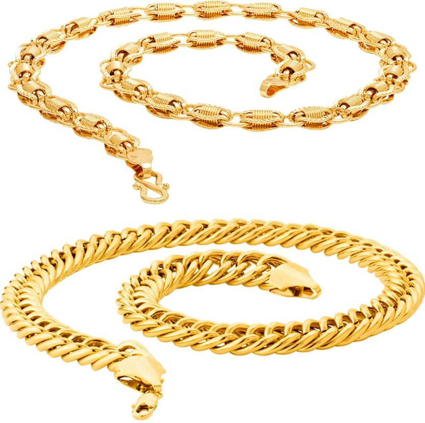 52d72bb54 Thrillz Exclusive Fancy   Trendy Link Neck Chain Combo For Men   Boys Gold-plated  Plated Brass Chain Price in India - Buy Thrillz Exclusive Fancy   Trendy ...