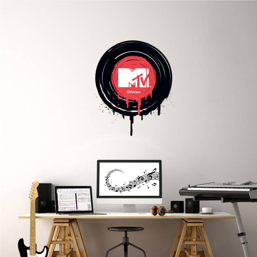 Asian Paints Extra Large Wall Ons MTV Play the MTV recordd Adhesive