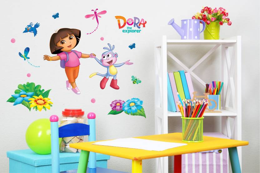 Asian Paints Extra Large Wall Ons Dora Flower Field Fun