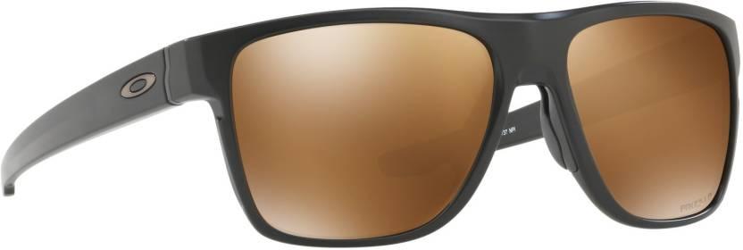 229831b7120 Buy Oakley CROSSRANGE XL Sports Sunglass Brown For Men Online   Best ...