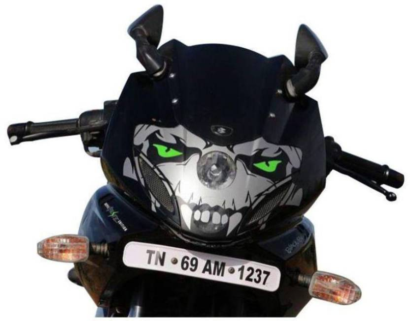 Justprint pulsar 220 headlight sticker motorcycle design sticker