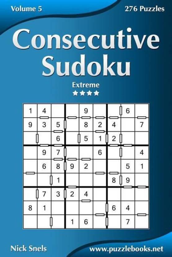 Consecutive Sudoku - Extreme - Volume 5 - 276 Logic Puzzles: Buy