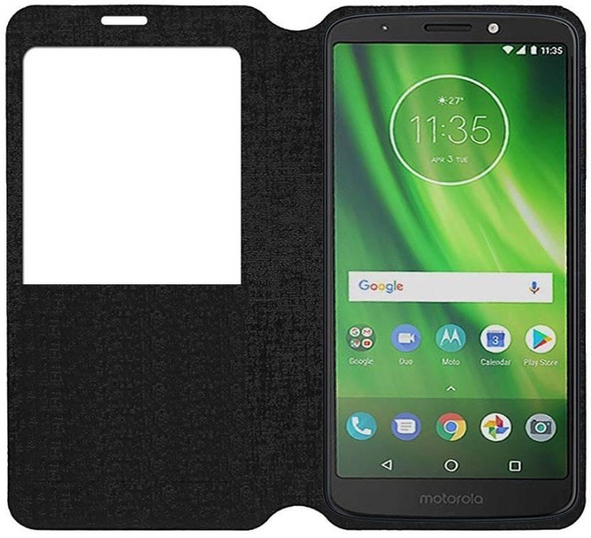 cheap for discount cf11a f7f5d S-Softline Flip Cover for Motorola Moto G6 Play (Black) - S-Softline ...