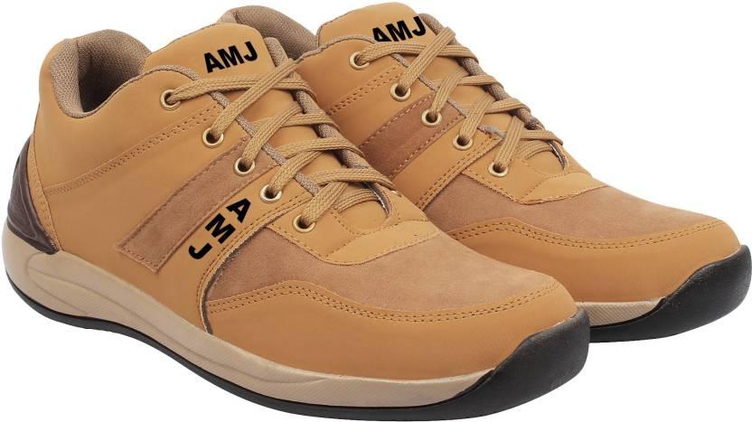 523f7784f7a4 AMJ Amj Tan Nubuck Leather Casual Casuals For Men Casuals For Men (Tan)