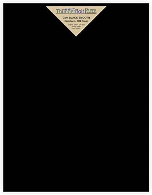 generic 40 dark black smooth card sheets 100 100 lb pound 8 5