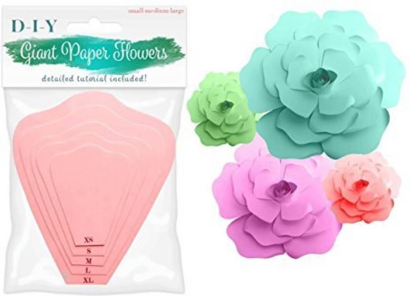 Retail Parity Paper Flower Kit Petal Templates Diy Wall