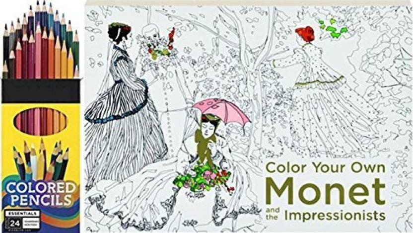 Peaceful Series Adult Artist Coloring Book Set Monet ...