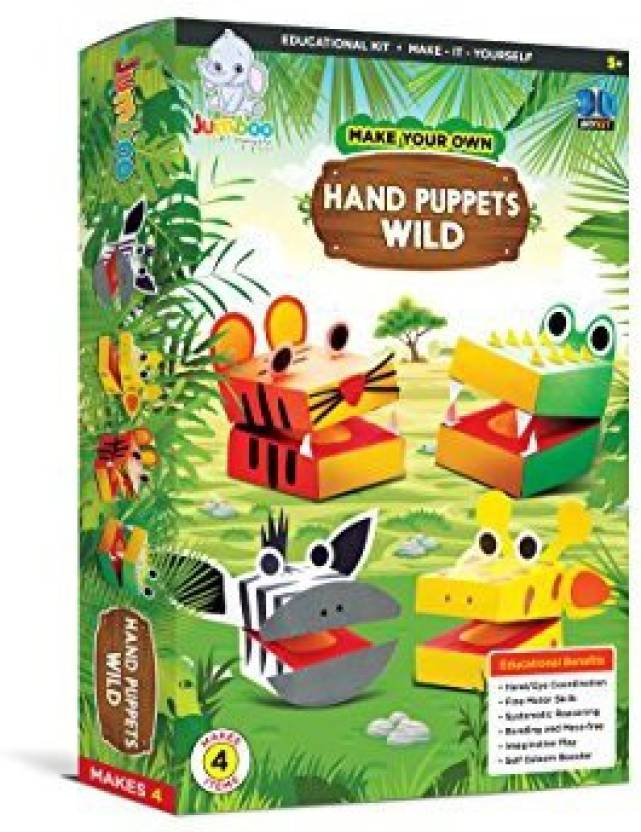 Jumboo Toys Diy 3d Hand Puppets Wild Kids Toy Craft Project Kit