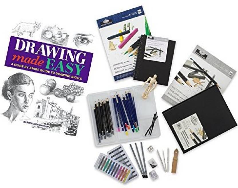 Generic Mega Drawing Studio Learn Sketching Pack/Pencils