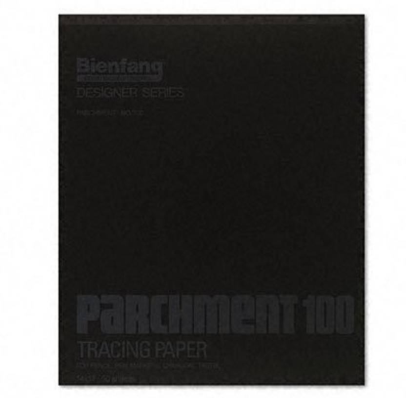 100 Sheets Bienfang Parchment Tracing Pad 9-Inch by 12-Inch