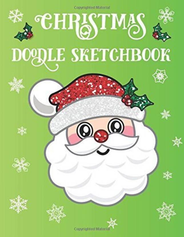 Generic Christmas Doodle Sketchbook: Santa Emoji Sketch Book For