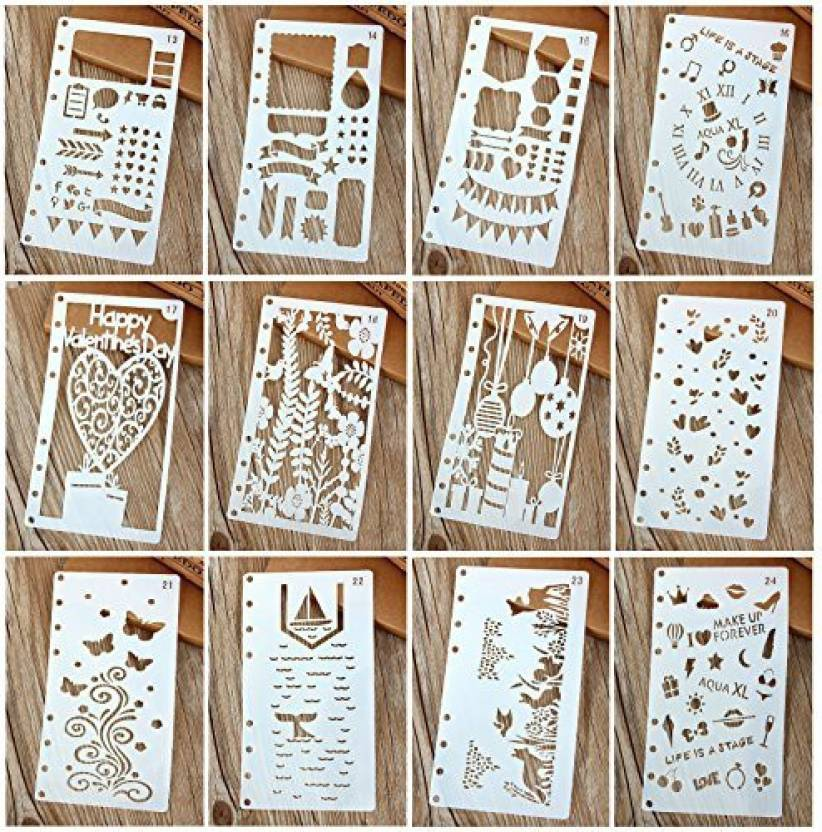 Chris W A6 6-Ring Bullet Journal Stencils Plastic Planner Stencils