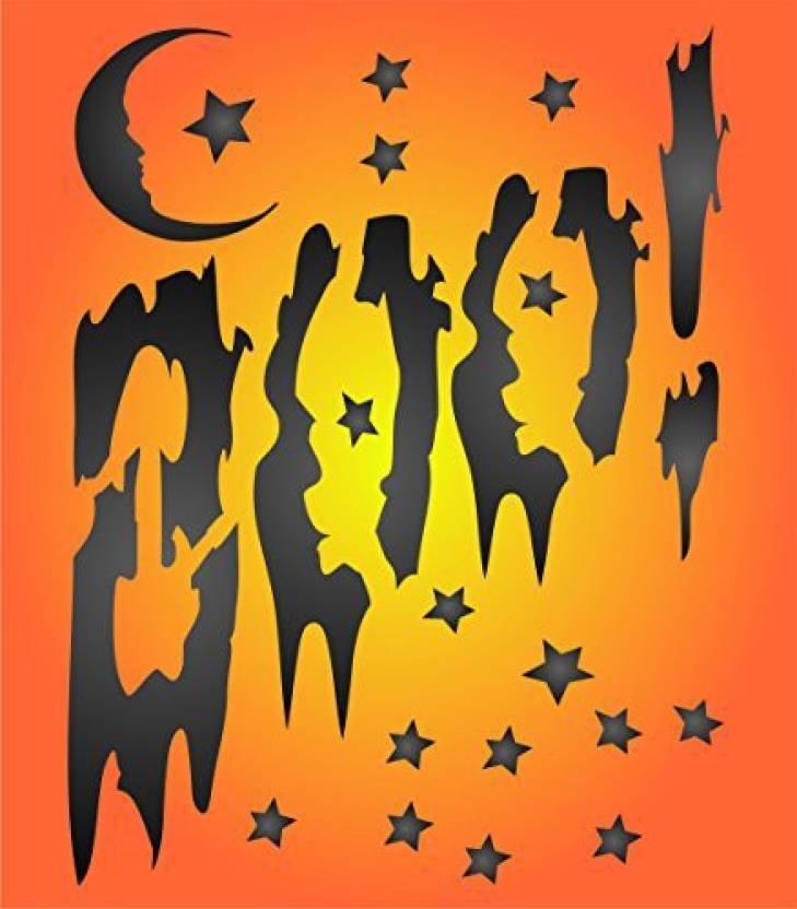 Generic Halloween Boo Stencil Size 5w X 65h Reusable