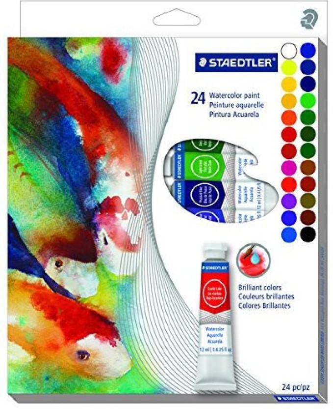 1271 C24A602ID Staedtler 24CT Triangular Water Colored Pencils
