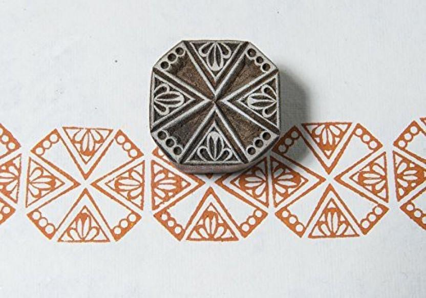 Blockwallah Delicate Square Wooden Block Stamp