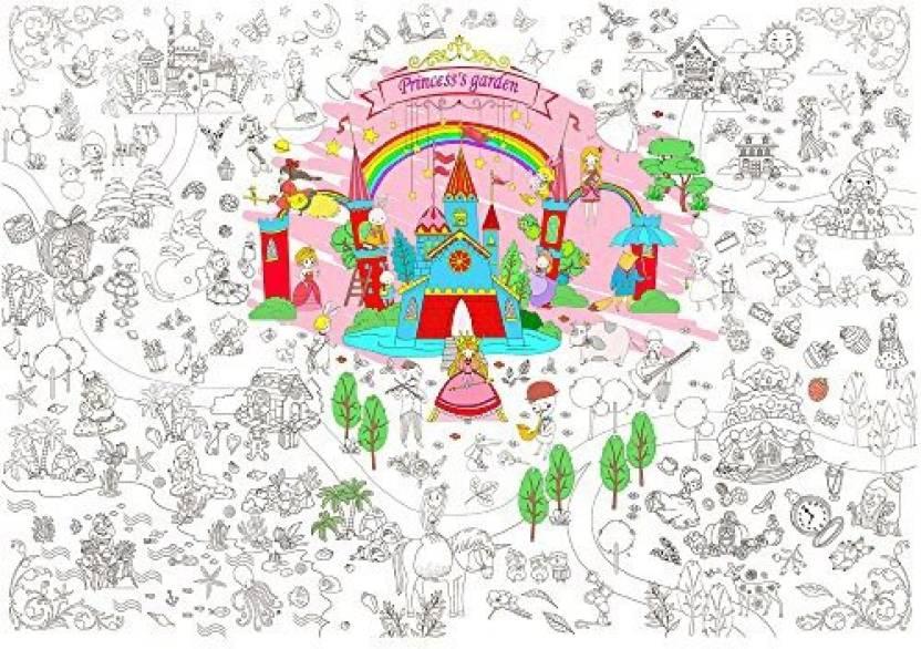Jar Melo Super Painter; Giant Coloring Poster; Princess Garden ...