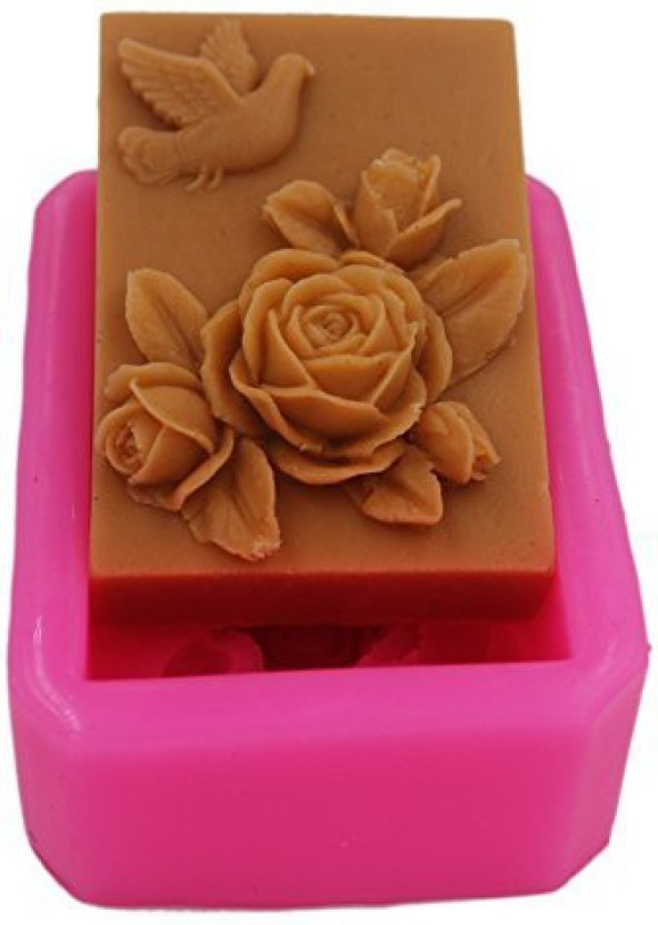 Longzang Peacock Mould S364 Art Silicone Soap Craft DIY Handmade Candle Molds