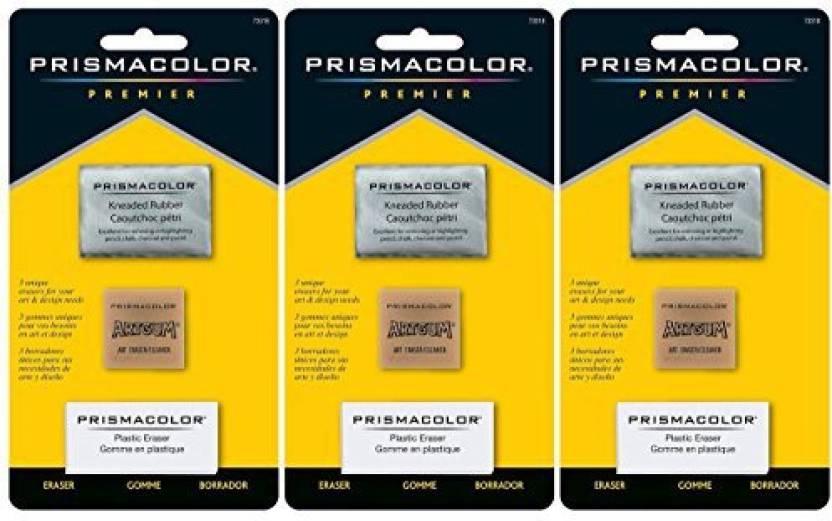 Sanford 3-Pack - Prismacolor Premier Eraser Set - Kneaded, Artgum And Plastic Erasers, Set Of 3 Per Pack - 3-Pack - Prismacolor Premier Eraser Set - Kneaded ...