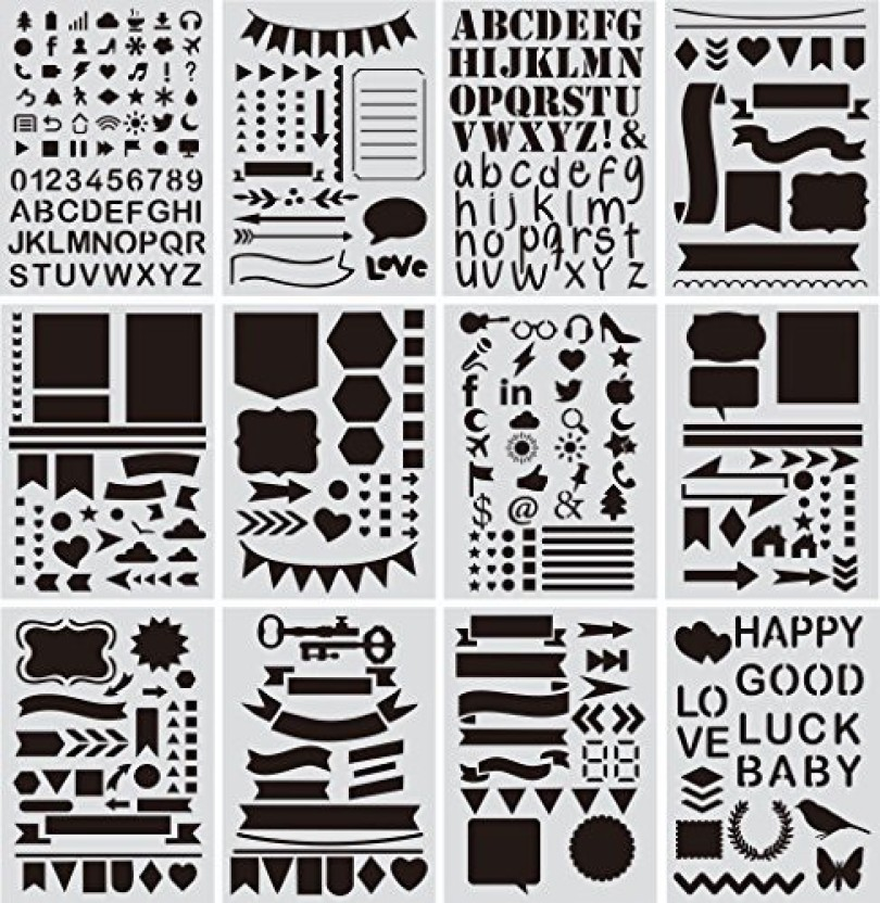 Letters and Numbers Pro Art 4-Inch Painting Stencil Set