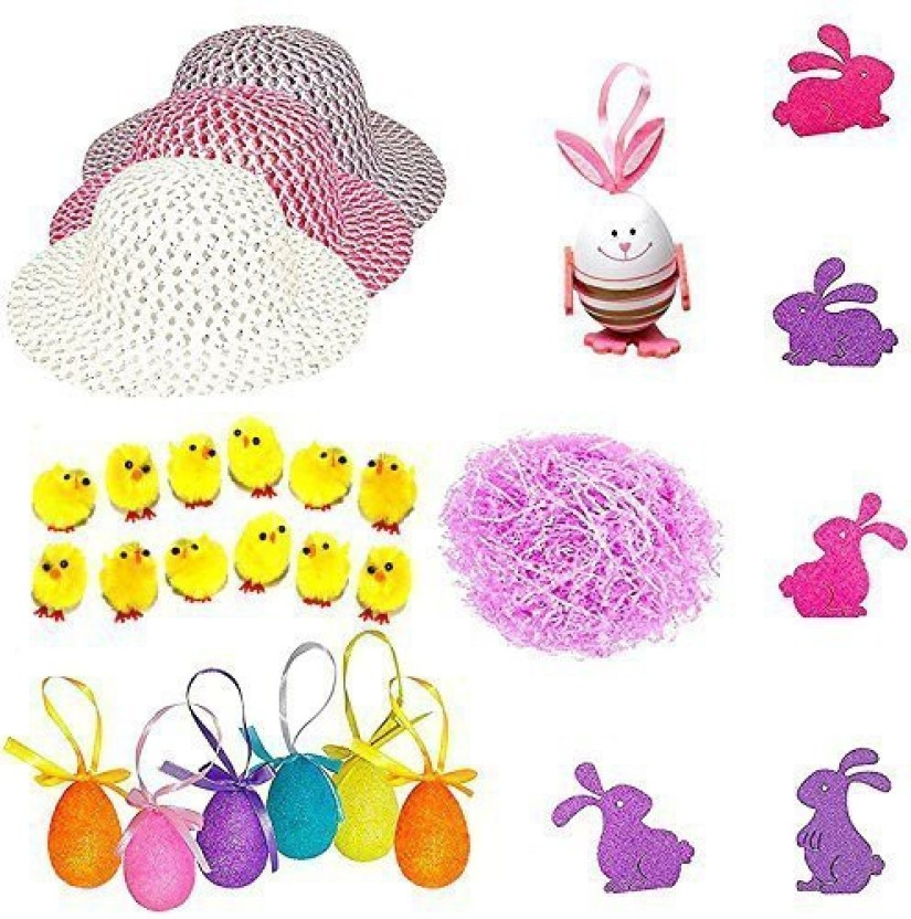 Boys Easter Bunny Chick Eggs Complete Bonnet Arts /& Craft Kit for Parade 2