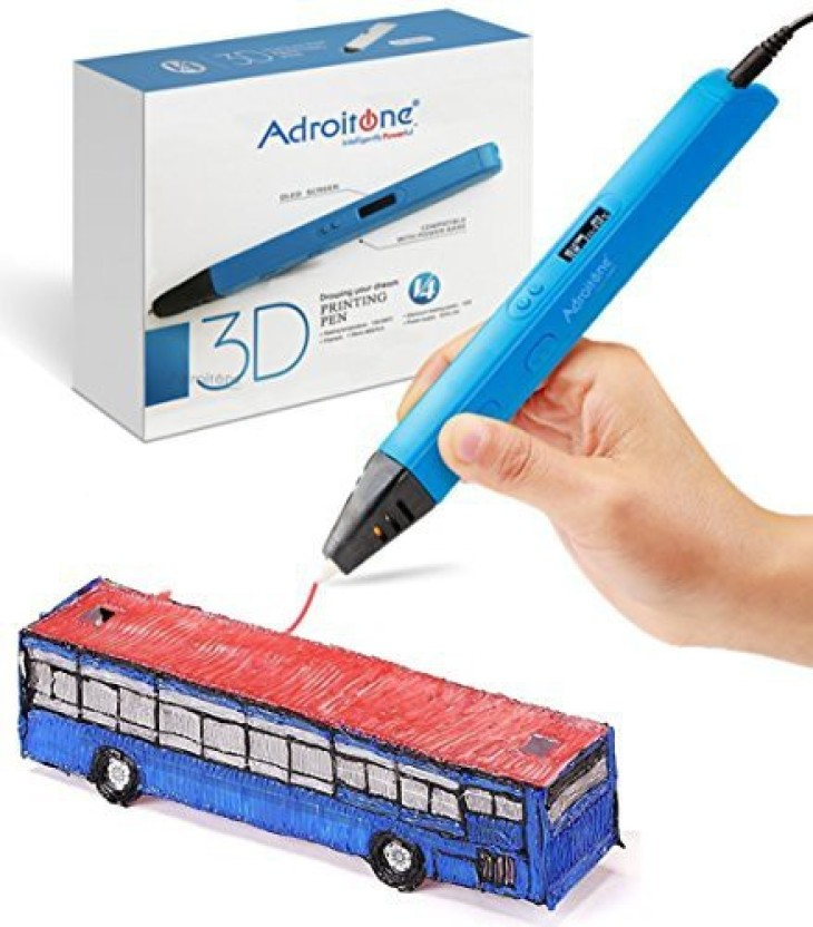 3D Printer Drawing Pen with LCD Screen Portable Compatible with PLA /& ABS 3D Printing Pen One klick Intelligent 3D Pen with Free 6 Pack PLA REFILAMENTS Arts Crafts Prefect Gift for Kids /& Adults