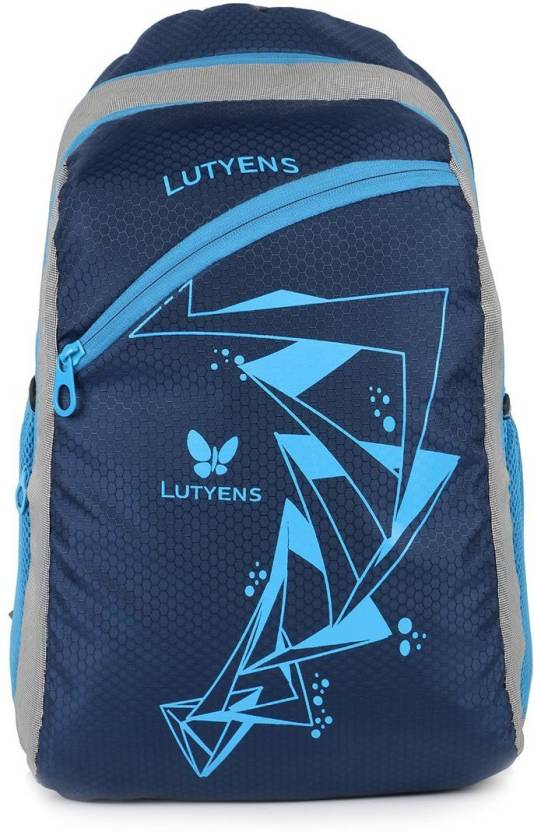 da00ff2fd8 Lutyens Blue Medium School Bag and Casual Backpack (Lutyens 267) Waterproof  School Bag (Blue