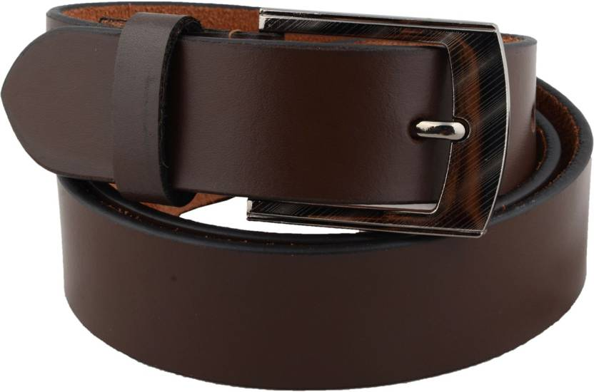 2be755ebd1a97 Shree Fashion Men Formal Brown Genuine Leather Belt Brown - Price in India  | Flipkart.com