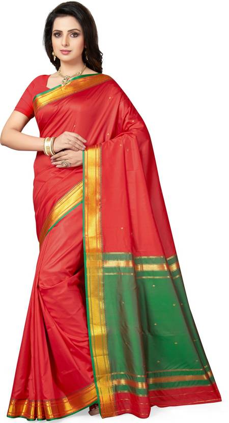 974276993bc Buy Ishin Solid Bollywood Poly Silk Red Sarees Online   Best Price ...