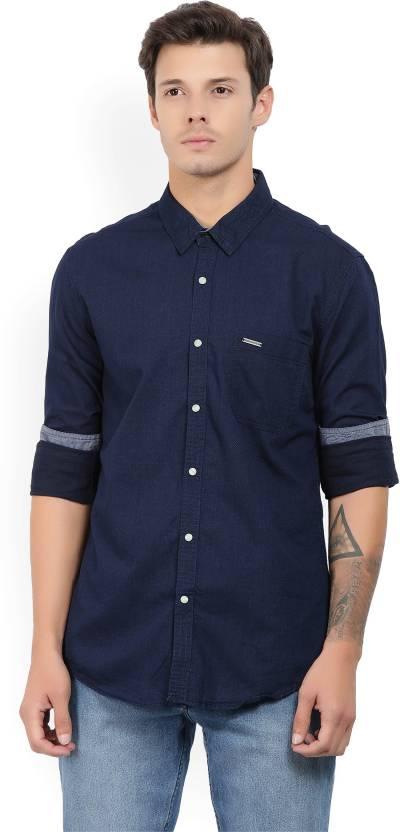 6820ffb16d Indigo Nation Street Men s Self Design Casual Spread Shirt - Buy NAVY Indigo  Nation Street Men s Self Design Casual Spread Shirt Online at Best Prices  in ...