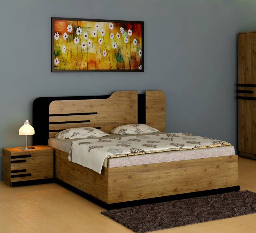 Crystal Furnitech Grafton Engineered Wood Queen Box Bed Price In