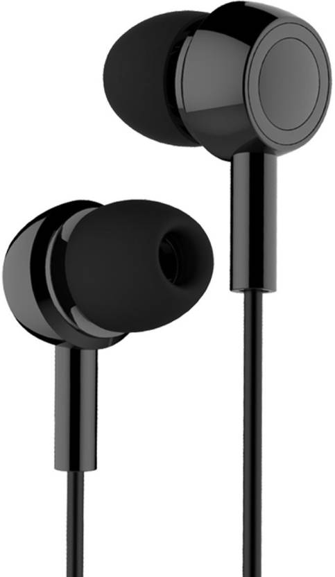 c13dcca517b Inbase In-Ear Earbuds Earphones, 3.5mm Metal Housing, Tangle Free Wired,  Bass Stereo Headset Built-in Mic/Hands-free/Volume Control (Black) Wired  Headset ...