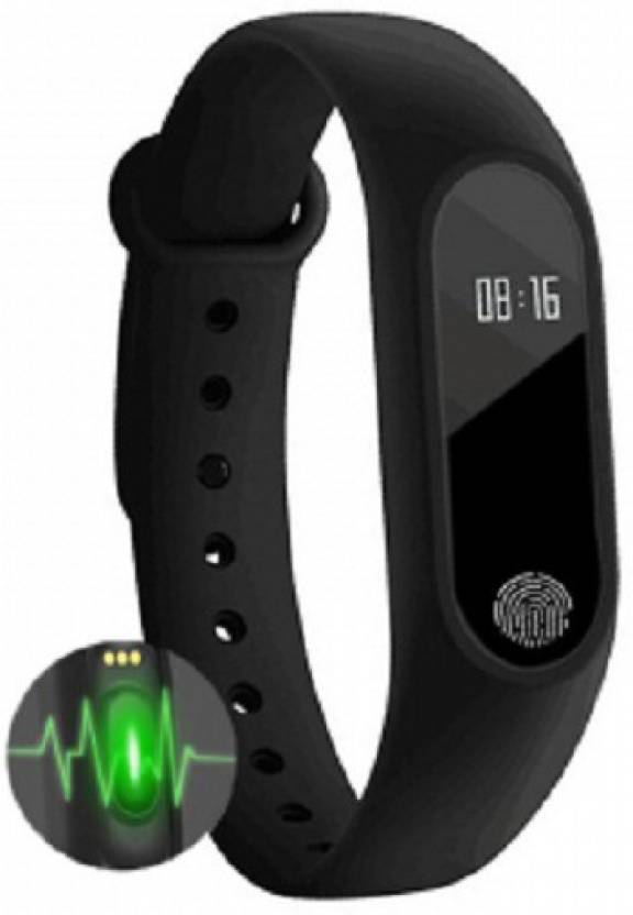 TCT M2 Health Smart Band(Black Strap, Size : unive