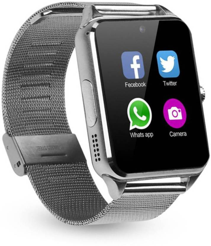 5b333040351 Padraig S8 Bluetooth Smart Watch Compatible with all 3G   4G Phone Silver  Smartwatch (Silver Strap Free Size)