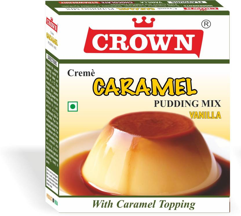 CROWN FOODS CARAMEL PUDDING 300 G Vanilla (100 g X Pack of 3