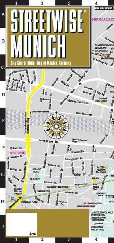 Streetwise Chicago Map.Streetwise Munich Map Laminated City Center Street Map Of Munich