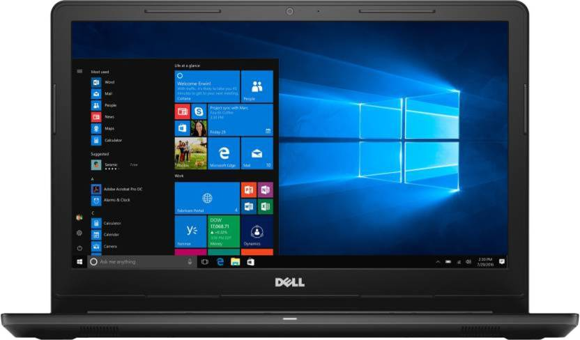 Dell Inspiron 15 3000 APU Dual Core A9 - (6 GB/1 TB HDD/Windows 10 Home) 3565 Laptop 15.6 inch, Black, 2.3 kg, With MS Office