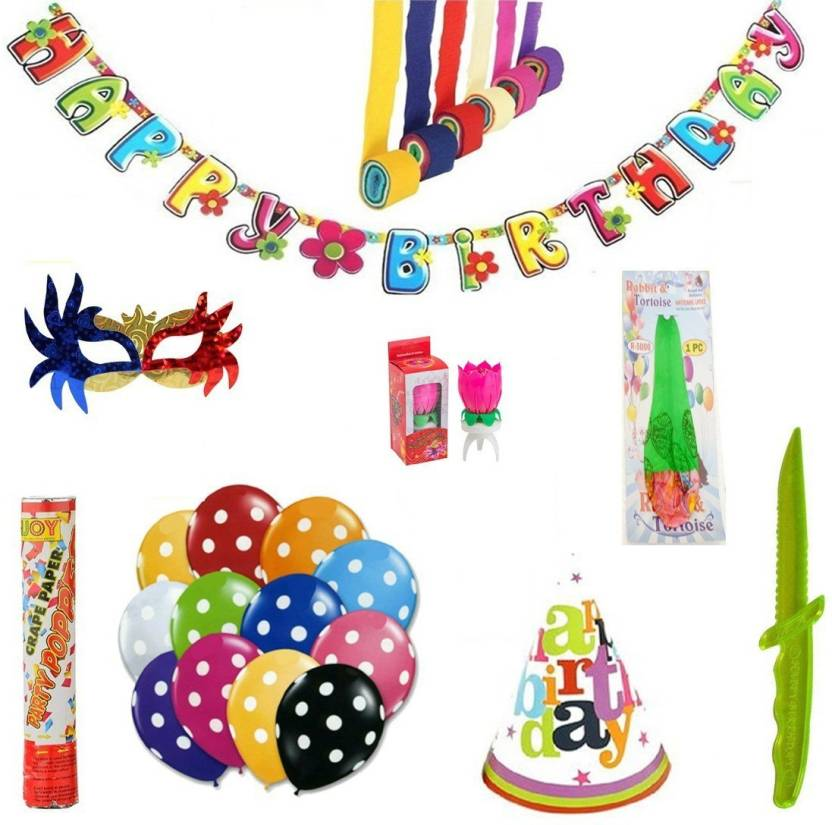 Factory 21 Multicolor Birthday Decoration Kit