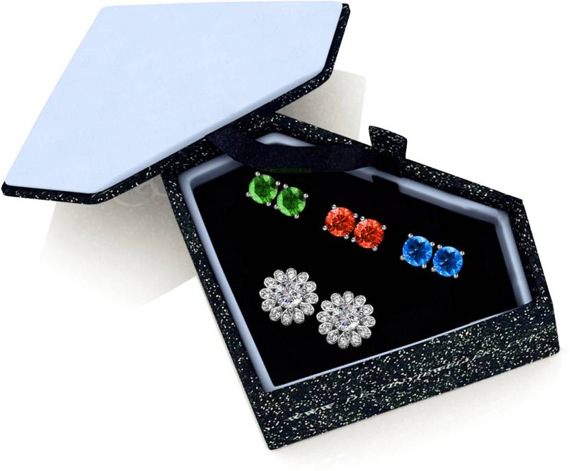 9a170be29 Flipkart.com - Buy Yellow Chimes Interchangeable Color Earrings Metal Stud  Earring Online at Best Prices in India