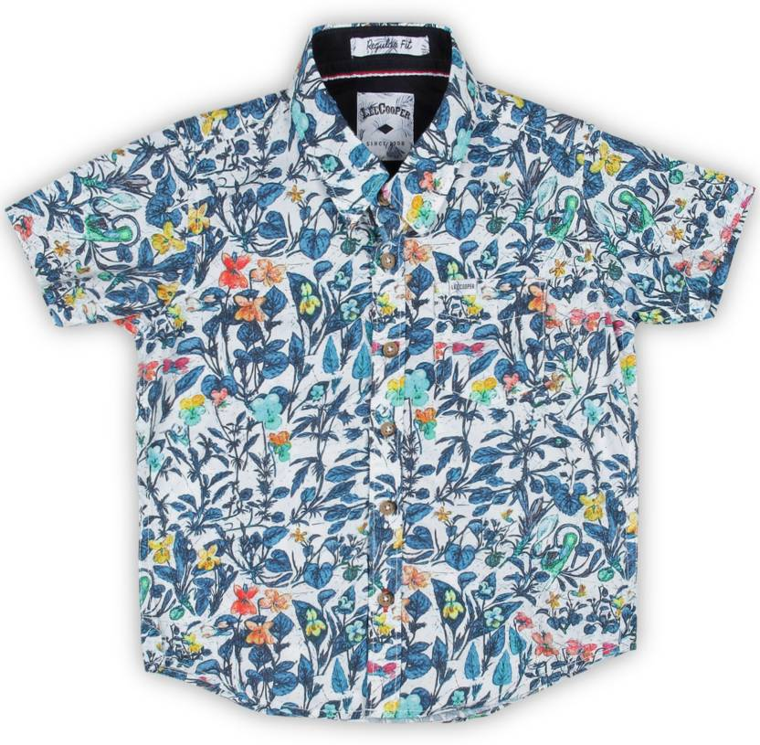 a28f032f092b Lee Cooper Boys Floral Print Casual Light Blue Shirt - Buy OFFWHITE Lee  Cooper Boys Floral Print Casual Light Blue Shirt Online at Best Prices in  India ...