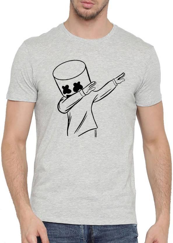 c8b2d467 Moochsingh Graphic Print Men's Round Neck Grey T-Shirt - Buy ...
