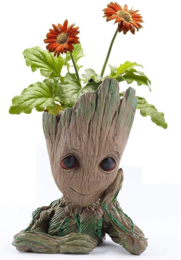 House of Quirk Groot Planter Flower Pot Groot Action Figures Guardians of The Galaxy Flowerpot Baby Cute Model Toy Pen Container Wooden Vase (18 inch ...  sc 1 th 269 & House of Quirk Groot Planter Flower Pot Groot Action Figures ...