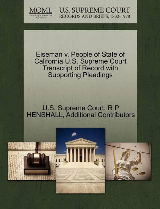 Eiseman V  People of State of California U S  Supreme Court