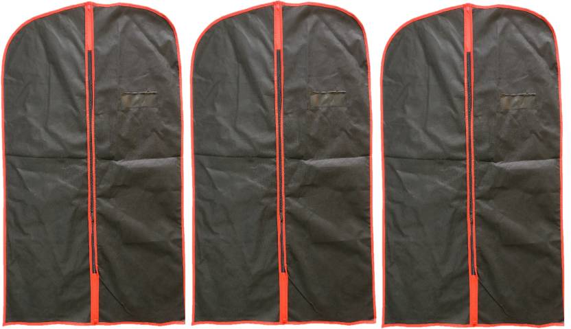 f0eb8cf0026a Addyz Garment Cover Pack of 3 Pieces Men s Eco Coat Blazer cover Suit cover  Foldover Breathable Garment Bag (Black)