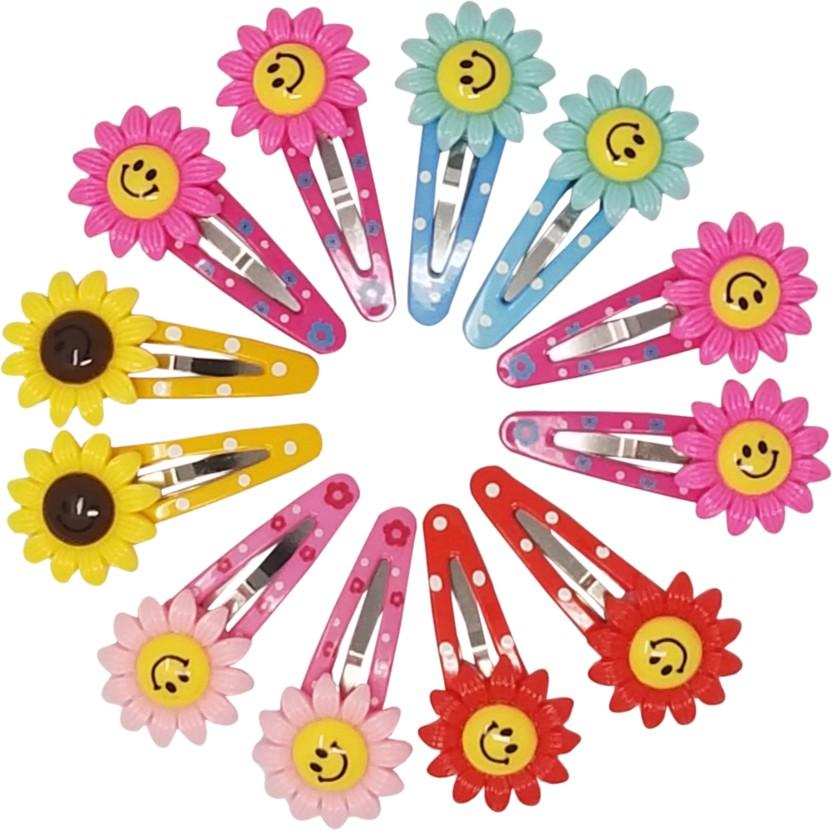 Kids Hair Snap Clips,Hair Pins Lollypop Multicolor Girls Hair Accessories-10 Pk