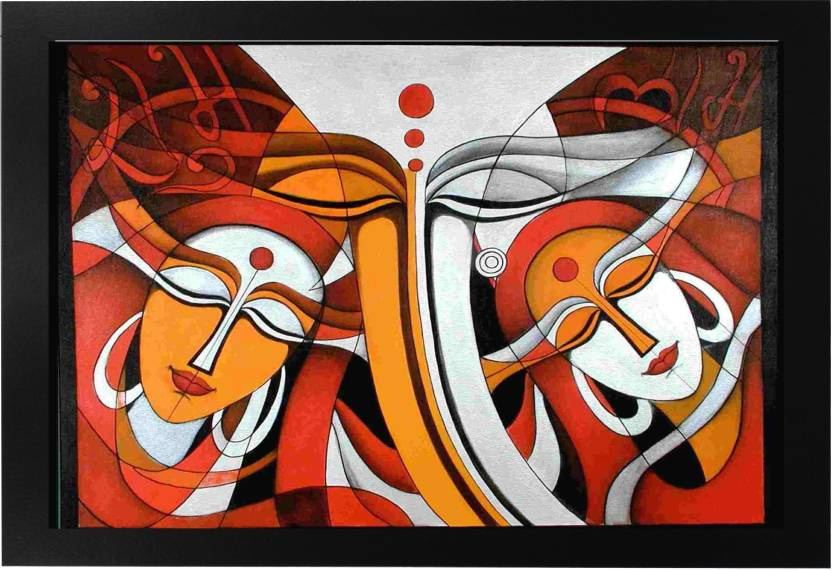 Narayani Modern Art Beautiful Painting with Frame (13x19)In