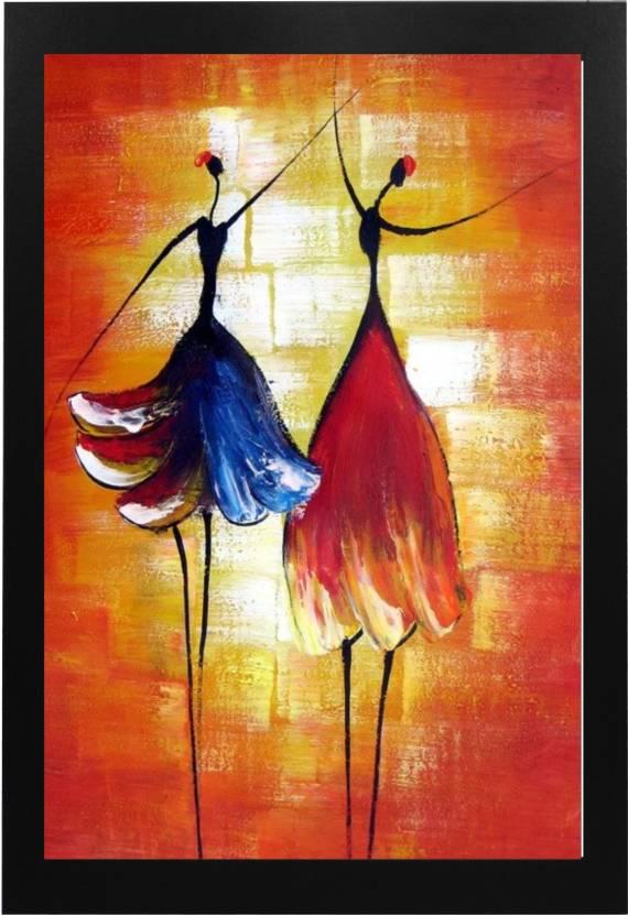 Narayani Modern Art Beautiful Dancing LadyPainting with
