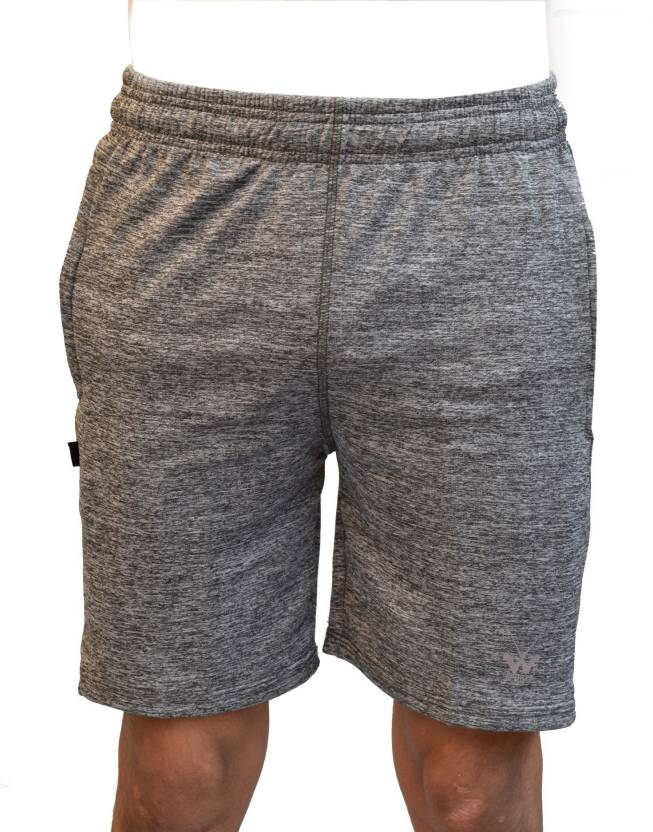 6fcdc3896 w sports Self Design Men s Grey Regular Shorts - Buy w sports Self Design Men s  Grey Regular Shorts Online at Best Prices in India