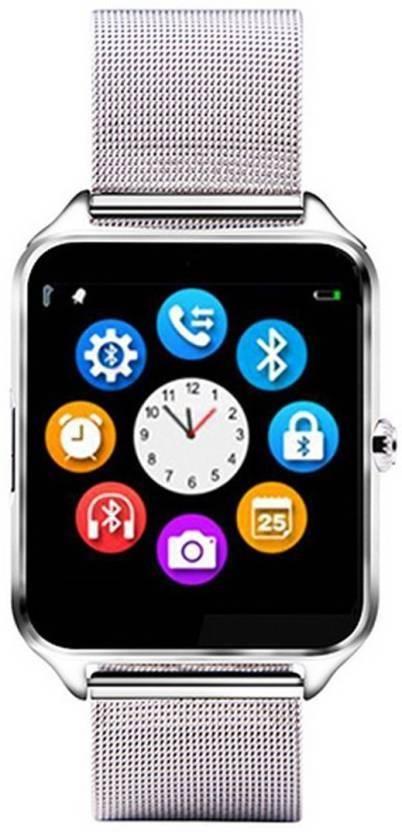 f3f16275ee3 Padraig S8 Smart Watch Stainless Steel Strap Men Women Bluetooth Wrist  Smartwatch Support SIM TF