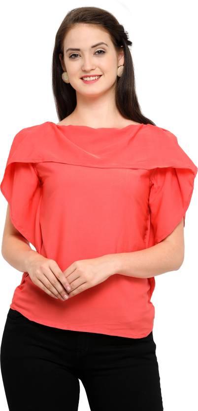 5d04fde792d318 J B Fashion Party Sleeveless Solid Women's Red Top - Buy J B Fashion Party  Sleeveless Solid Women's Red Top Online at Best Prices in India |  Flipkart.com