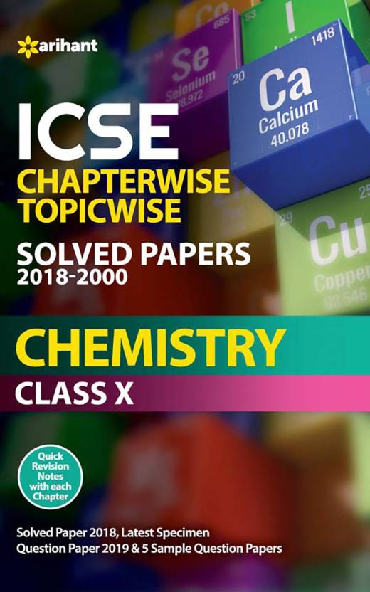 ICSE Chapterwise Solved Papers Chemistry Class 10th: Buy ICSE
